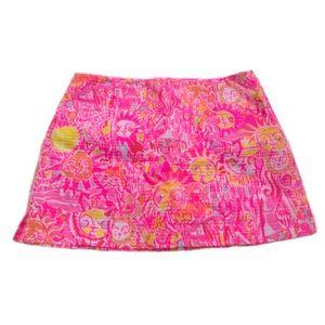LILLY PULITZER🌸 Neon Pink/Orange/Yellow Sun Skort